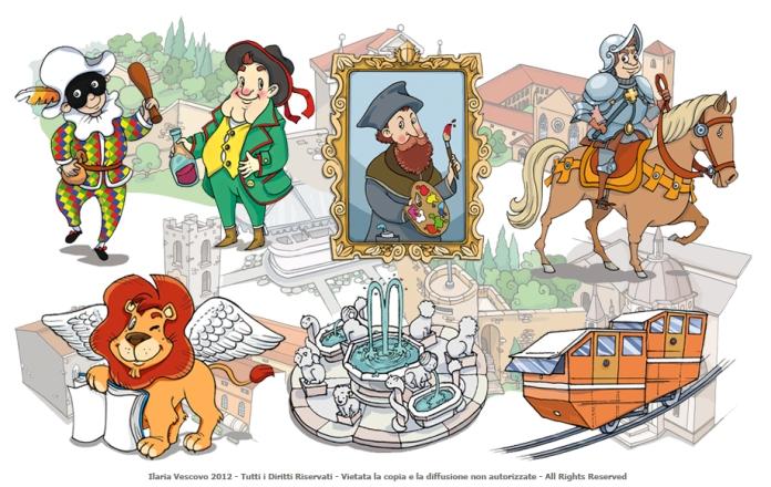 Illustrazioni per guida turistica per ragazzi